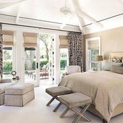 北欧风格清新卧室阳台装饰