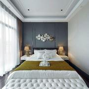 别墅欧式简约风格卧室效果图