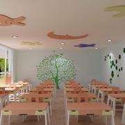 幼儿园教室桌椅装饰