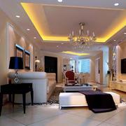 欧式简约风格家庭客厅装修
