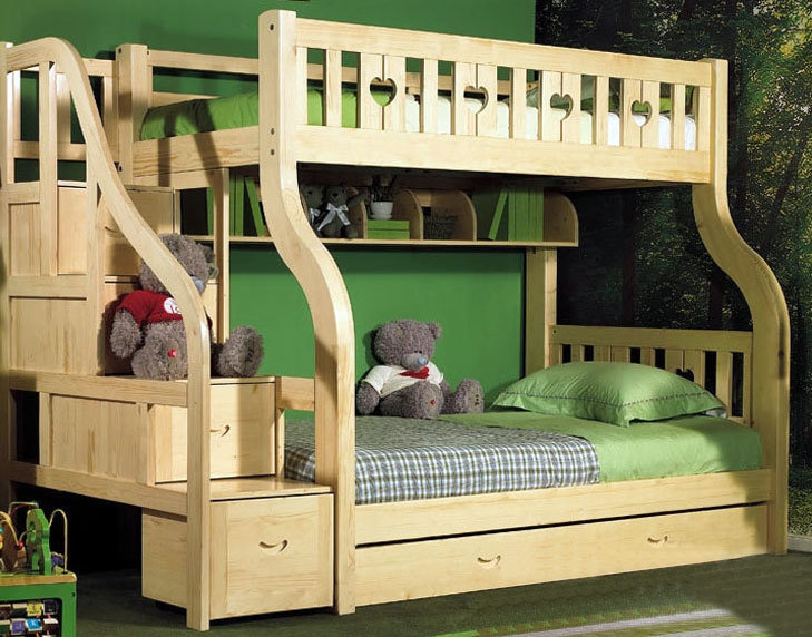 尽享天伦之乐:豪华卧室实木子母床装修效果图鉴赏大全