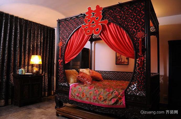 喜庆 的 中式 婚房布置图片 装修 效果图 齐装网装
