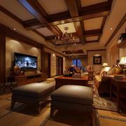 美式样板房软质沙发装饰