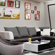 美式简约浅色照片墙装饰