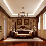 欧式简约原木卧室装饰