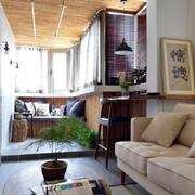 两室一厅客厅沙发装饰