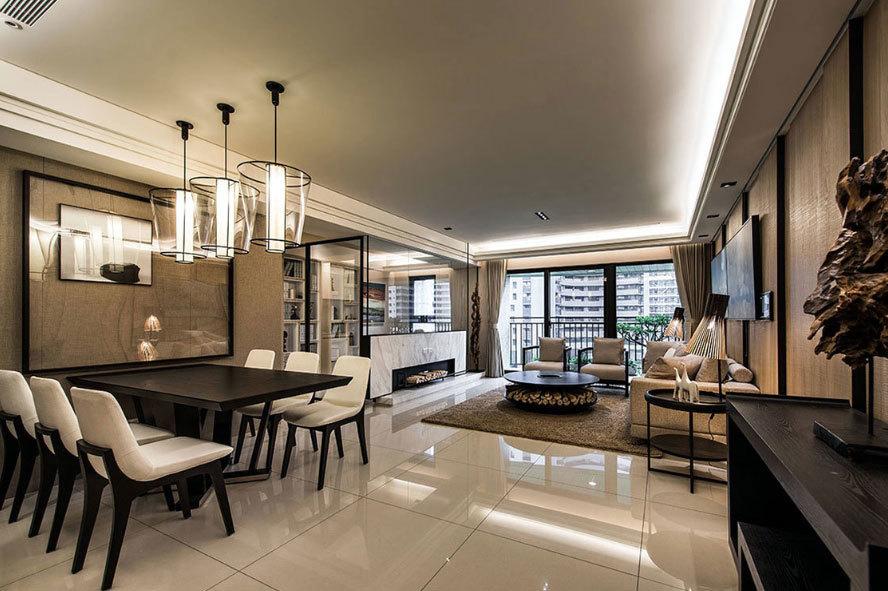秋色入室:休闲时尚现代酒店式公寓家装效果图
