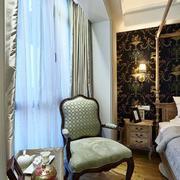 两室一厅简约卧室飘窗装饰