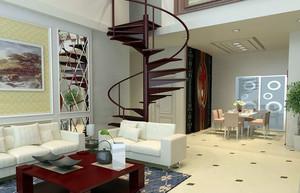 中式简约客厅楼梯装饰