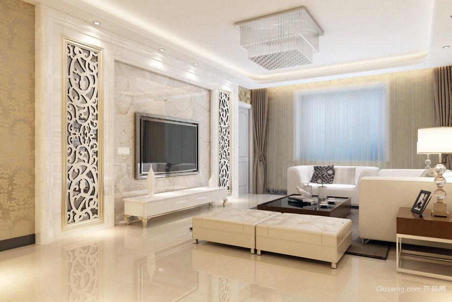 既环保又保护视力简约风格电视背景墙