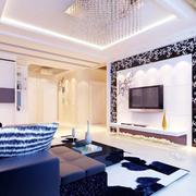 简欧风格客厅瓷砖装饰