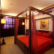 中式婚房卧室吊顶设计