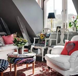 三室两厅混搭风格客厅装饰