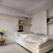 北欧风格简约卧室置物架装饰