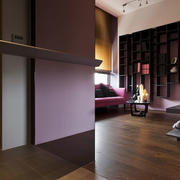 后现代风格公寓客厅置物架
