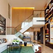 简约风格别墅玻璃楼梯装饰