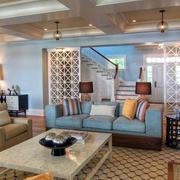 中式风格客厅简约隔断装饰
