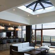 别墅简约风格客厅吊顶装饰