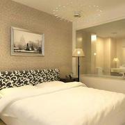 卧室简约风格灯饰效果图