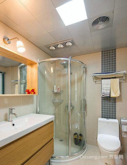 厕所也俏丽:清新淡雅的北欧风格卫生间装修效果图