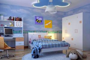 儿童房卡通风格吊顶装饰