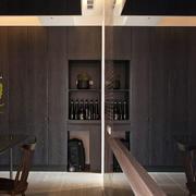 后现代风格公寓客厅酒柜装饰