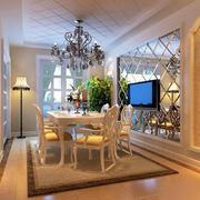 欧式简约风格餐厅背景墙设计