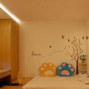 日式简约风格卧室效果图