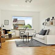 北欧风格清新客厅效果图