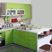 混搭风格果绿色厨房装饰