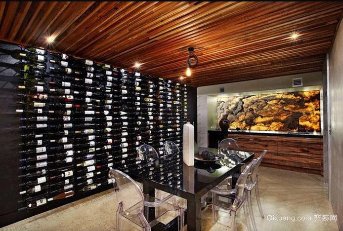 豪华别墅中雍容华贵的酒窖装修效果图