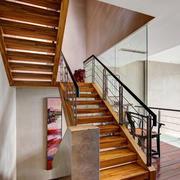 简约风格复式楼梯扶手效果图
