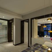 公寓简约餐厅灯饰效果图