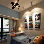 别墅欧式田园风格卧室背景墙