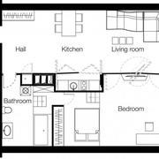 简约风格公寓整体平面图装饰
