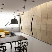 简约风格公寓隐形封闭式厨房装饰