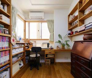原木书房整体书柜装饰