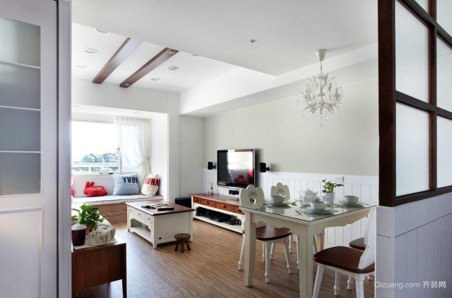 改造阴暗低矮空间两居室现代家装效果图