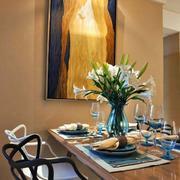 别墅餐厅桌椅效果图