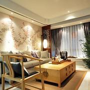中式简约客厅背景墙装饰