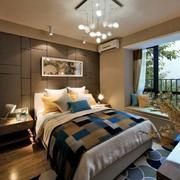 别墅简约卧室创意灯饰设计