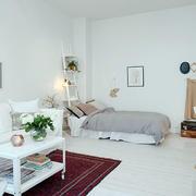 北欧风格简约客厅置物架装饰