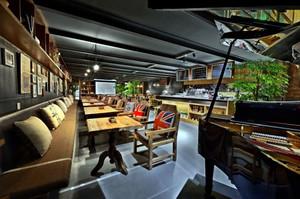 美式简约风格咖啡厅吊顶设计