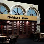 咖啡厅门饰装饰效果图