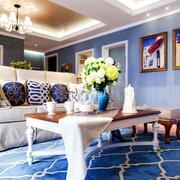 地中海风格客厅地毯装饰