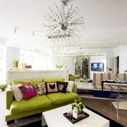 小户型简约风格客厅吊顶设计