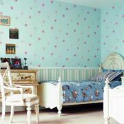 欧式风格儿童房背景墙