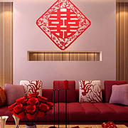 婚房喜庆沙发背景墙设计