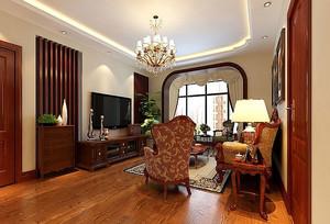 90平米房屋美式客厅装饰