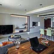 室内软装原木桌装饰